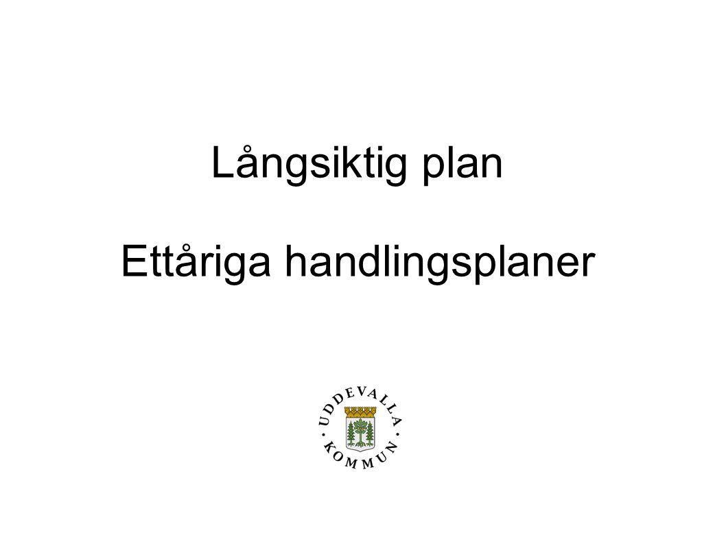 Långsiktig plan Ettåriga handlingsplaner