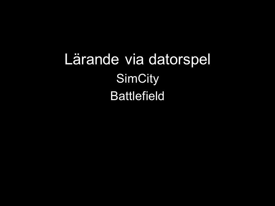 Lärande via datorspel SimCity Battlefield