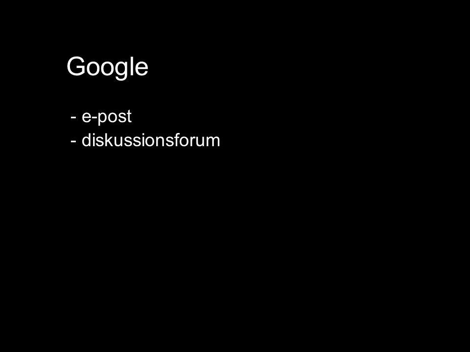 Google - e-post - diskussionsforum