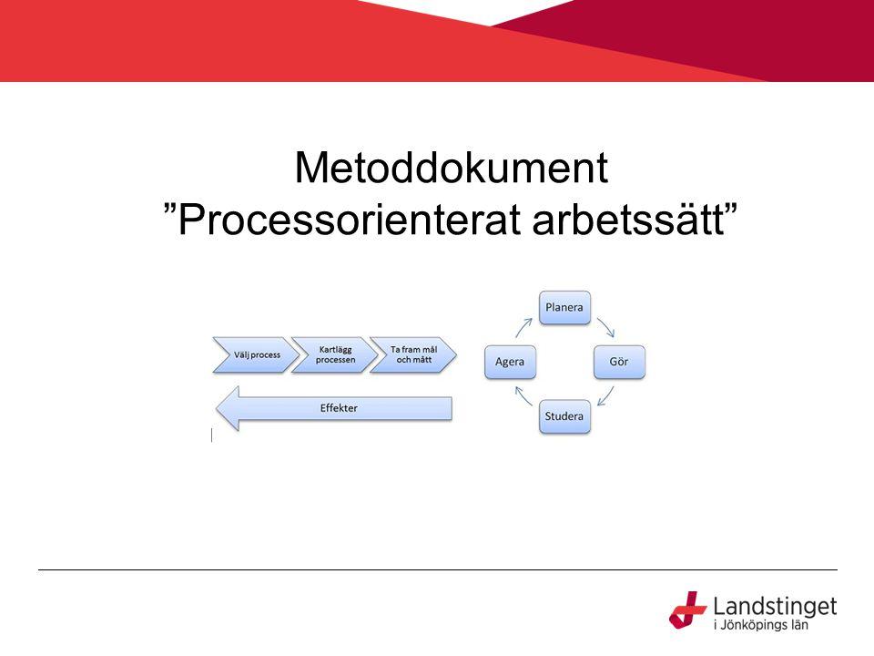 """Metoddokument """"Processorienterat arbetssätt"""""""