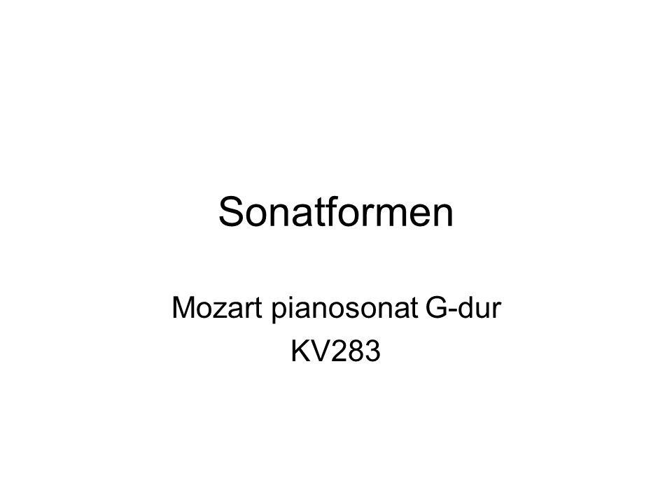 Sonatformen Mozart pianosonat G-dur KV283