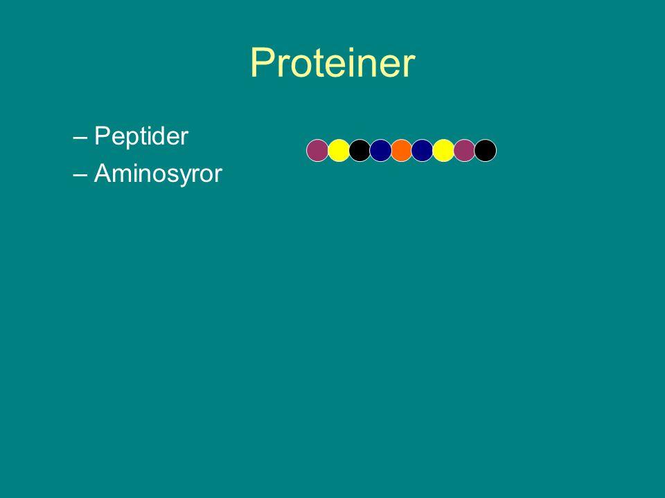 Proteiner –Peptider –Aminosyror