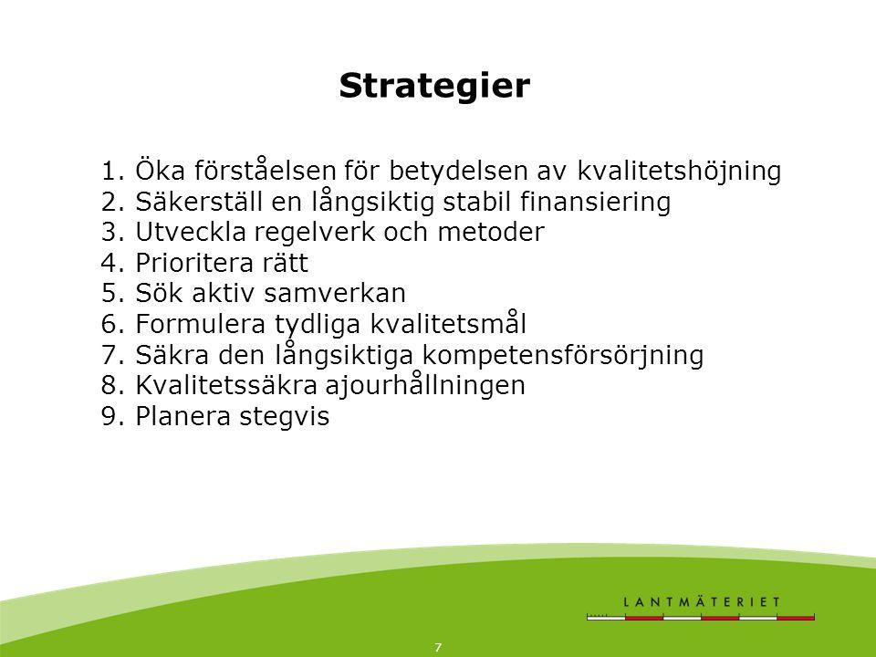 7 1. Öka förståelsen för betydelsen av kvalitetshöjning 2.