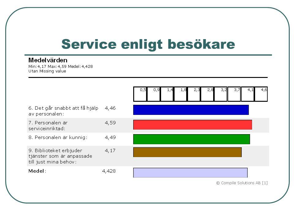 Service enligt besökare