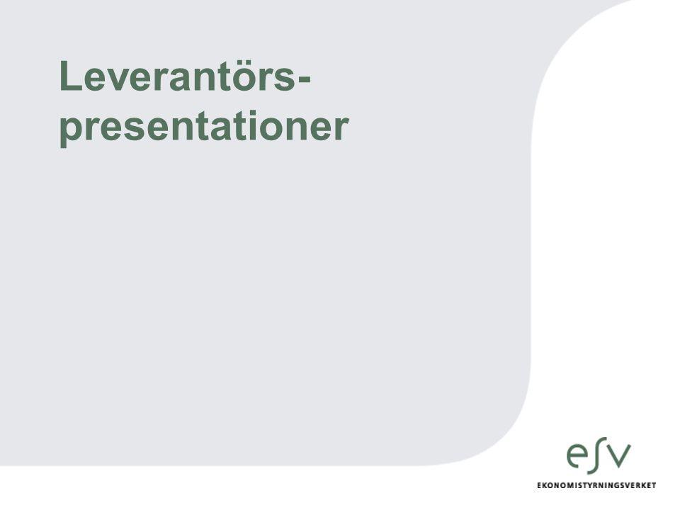 Leverantörs- presentationer