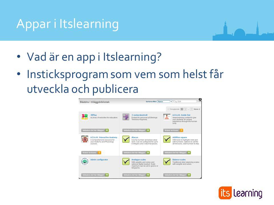 Vad är en app i Itslearning.
