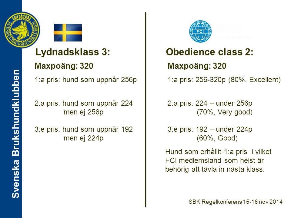 Svenska Brukshundklubben Moment Lydnadsklass 3Obedience class 2 Sittande i grupp -1 min, 5 meter mellan hundarna -Förare synliga på 20 meter -Minst 3 hundar, max 8 hundar -1 min.