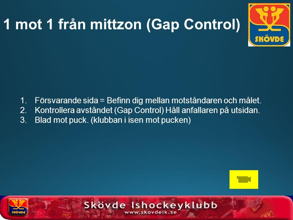 1.Försvarande sida = Befinn dig mellan motståndaren och målet. 2.Kontrollera avståndet (Gap Control) Håll anfallaren på utsidan. 3.Blad mot puck. (klu