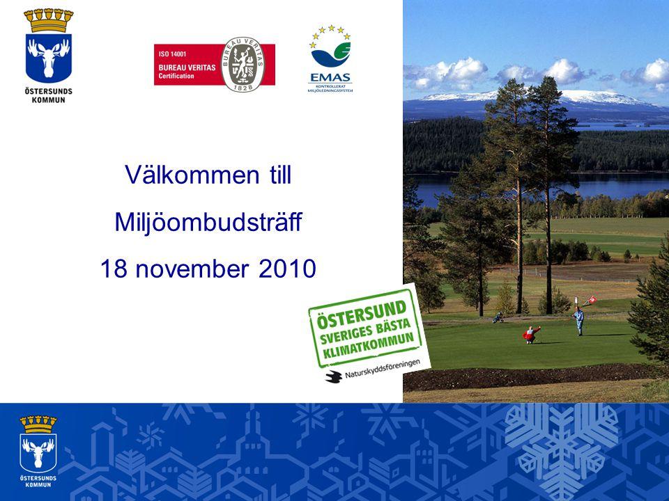 Välkommen till Miljöombudsträff 18 november 2010