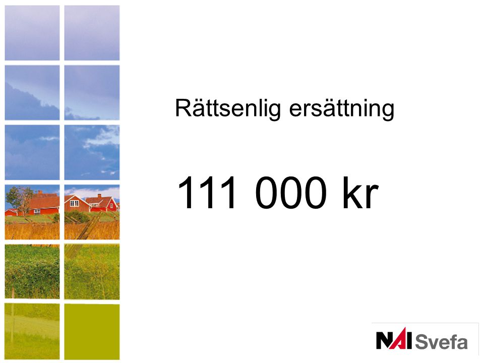 111 000 kr Rättsenlig ersättning