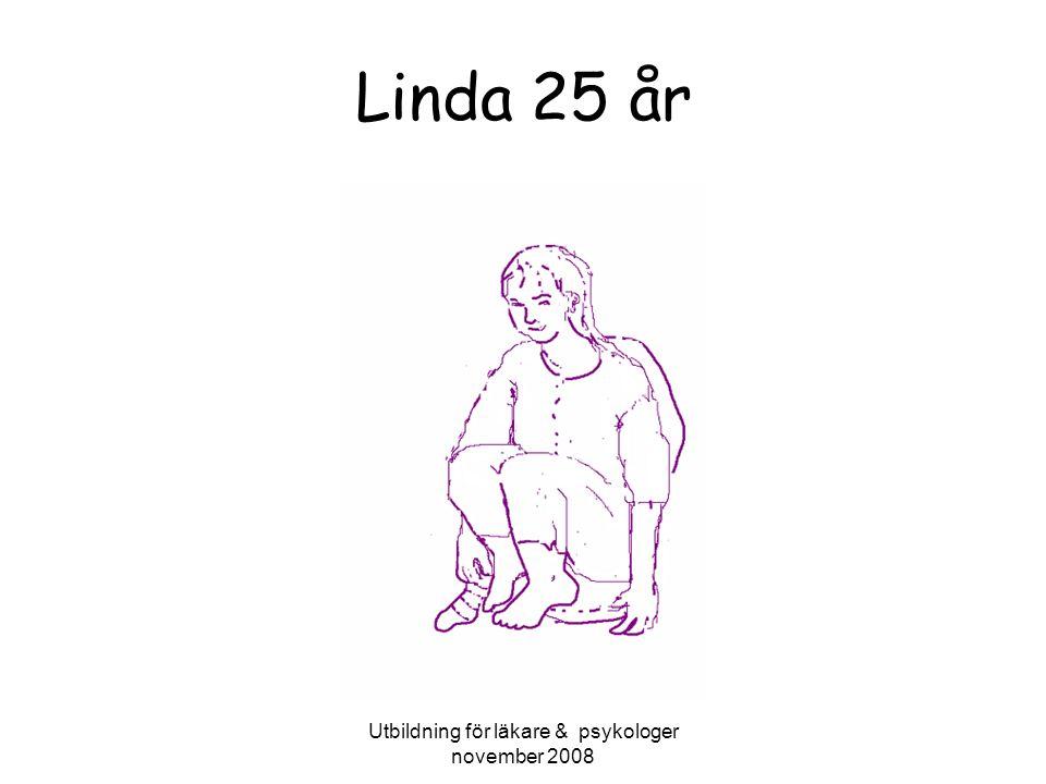 Utbildning för läkare & psykologer november 2008 Linda 25 år