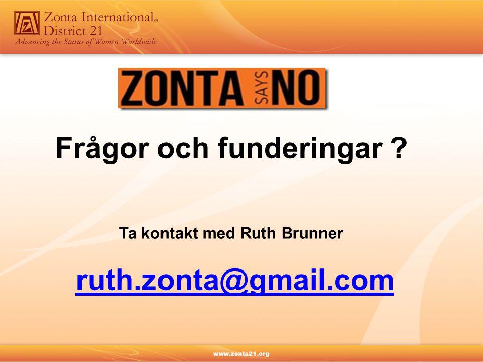 Frågor och funderingar Ta kontakt med Ruth Brunner ruth.zonta@gmail.com