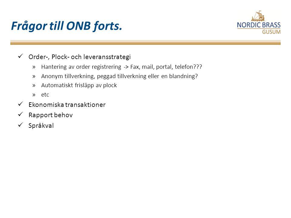 Frågor till ONB forts.