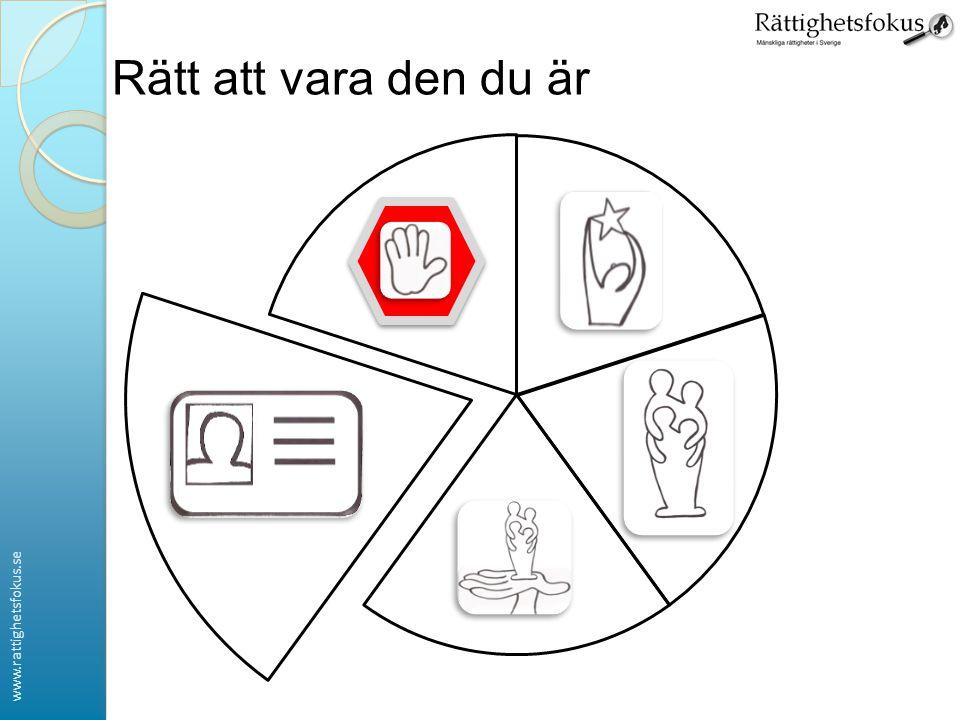 www.rattighetsfokus.se Rätt att vara den du är