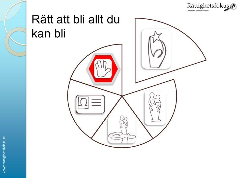 www.rattighetsfokus.se Rätt att bli allt du kan bli