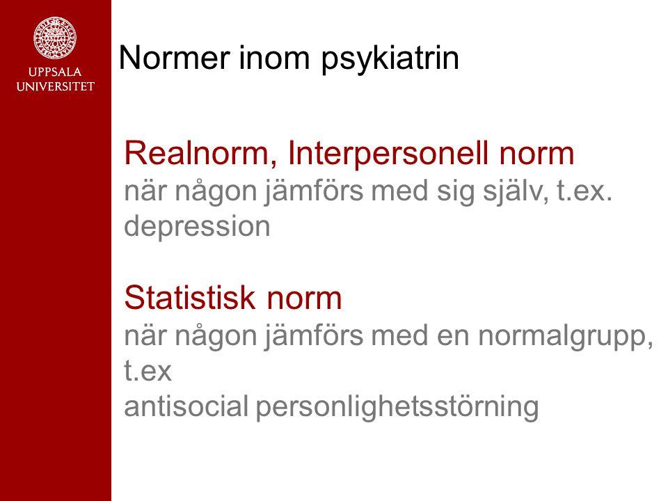 Realnorm, Interpersonell norm när någon jämförs med sig själv, t.ex.