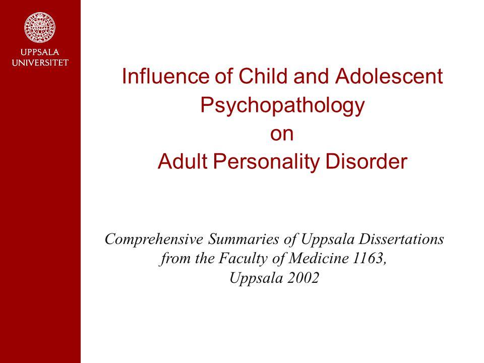 Hur går det för barnpsykiatrins patienter då de blir vuxna?