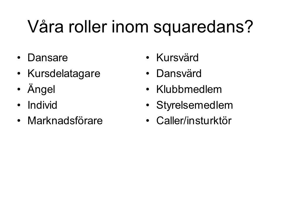Våra roller inom squaredans.