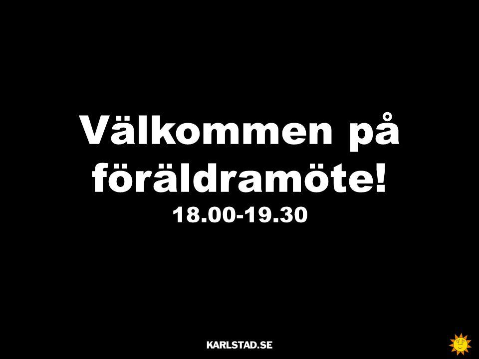 Välkommen på föräldramöte! 18.00-19.30