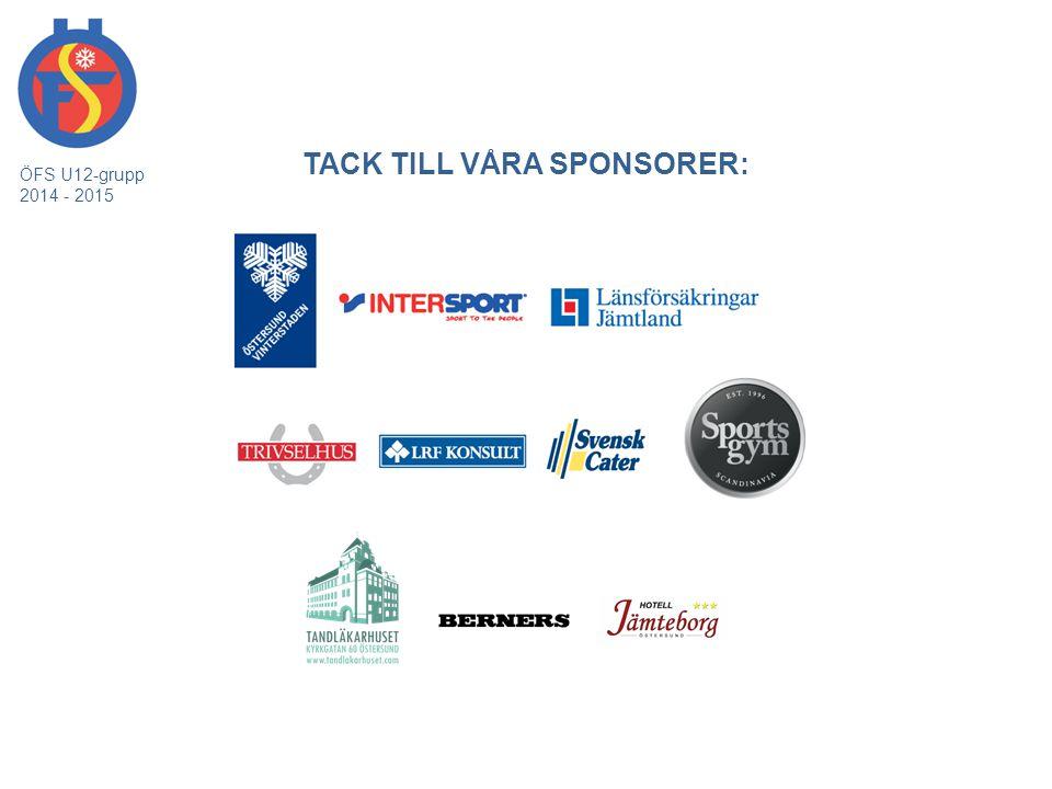 MARKNADSGRUPPEN ÖFS U12-grupp 2014 - 2015 Vårt mål är att varje säsong ha sponsorer till ett värde av 250 000:-.