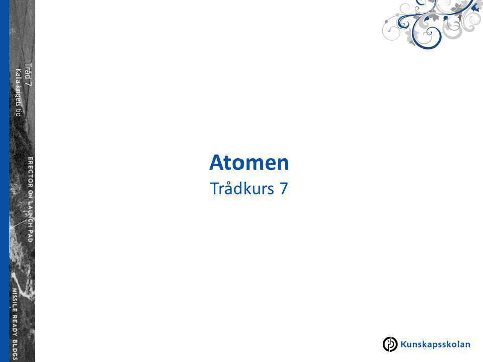 Atomens historia Atom- grekiska och betyder odelbar.