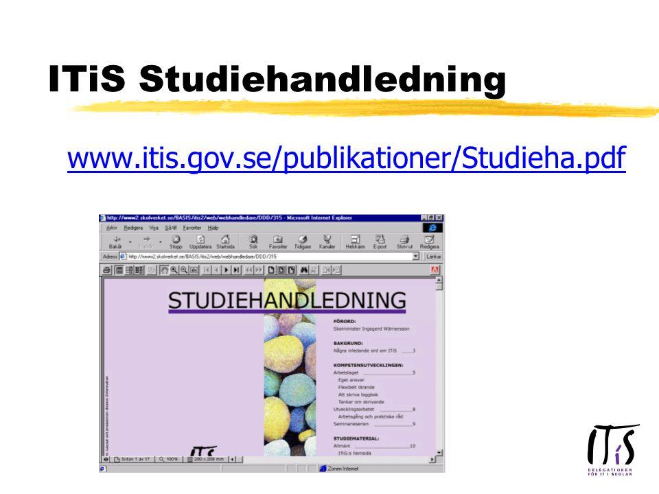 ITiS Studiehandledning www.itis.gov.se/publikationer/Studieha.pdf