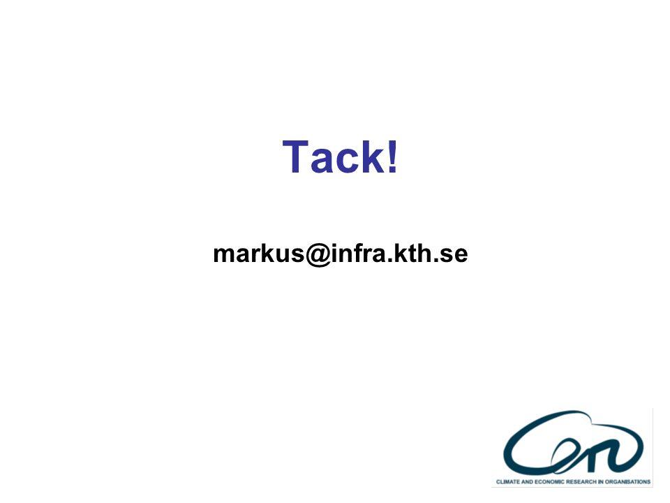 Tack! markus@infra.kth.se