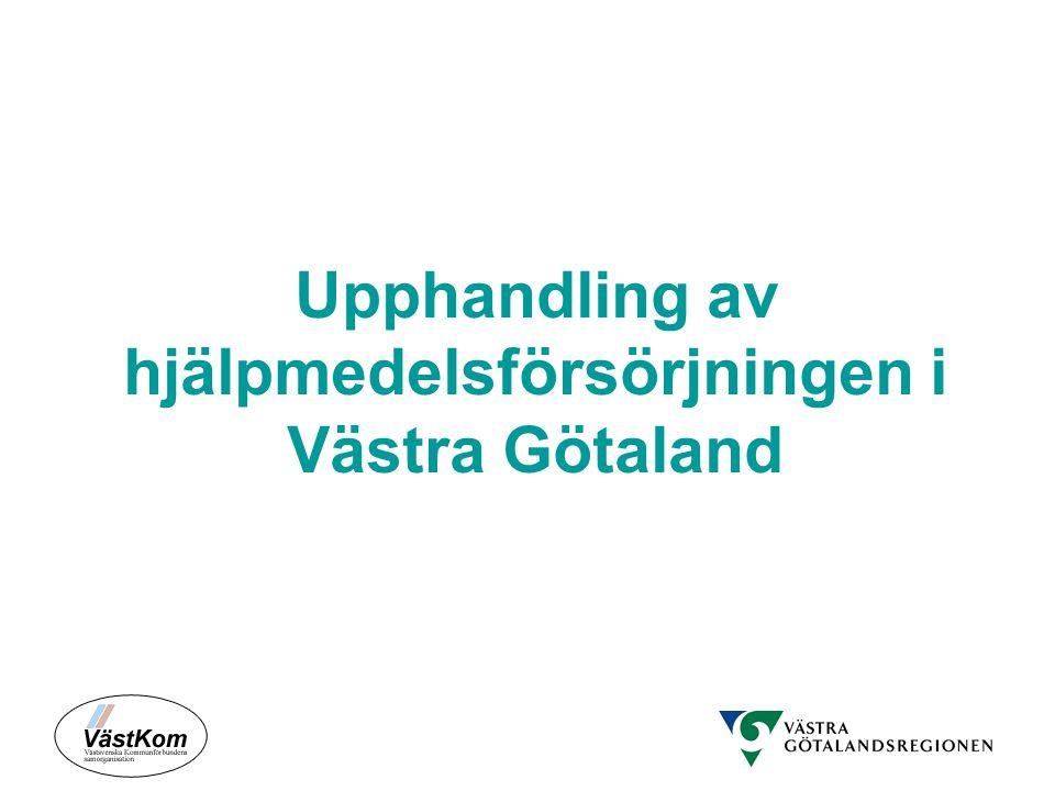 Upphandling av hjälpmedelsförsörjningen i Västra Götaland
