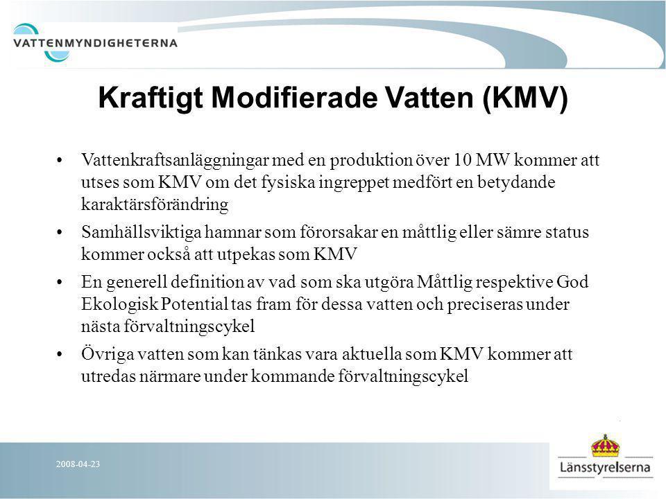 2008-04-23 Kvicksilverfrågan Det av EU fastställda gränsvärdet på 0,02 mg Hg/Kg i biologiskt material kommer att tillämpas.
