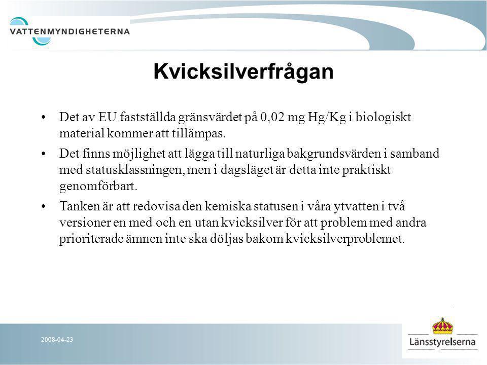 2008-04-23 Åtgärdsprogram – VM strategi Regeringen VM beslut ÅP Ekonomiska styrmedel Nationella myndigheter Länsstyrelserna Kommuner Lag, Förordn.