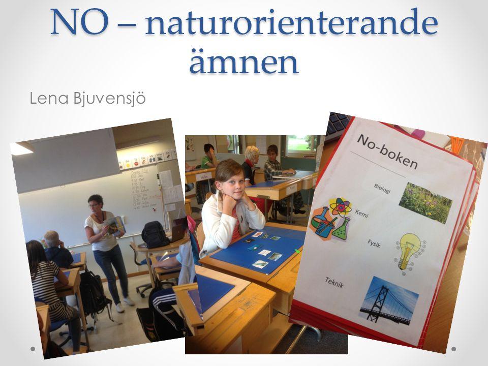 NO – naturorienterande ämnen Lena Bjuvensjö