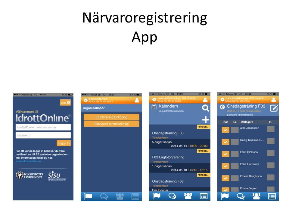 Närvaroregistrering App