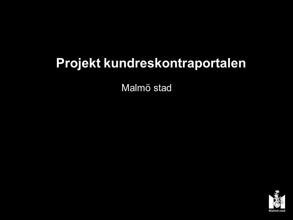Projekt kundreskontraportalen Malmö stad
