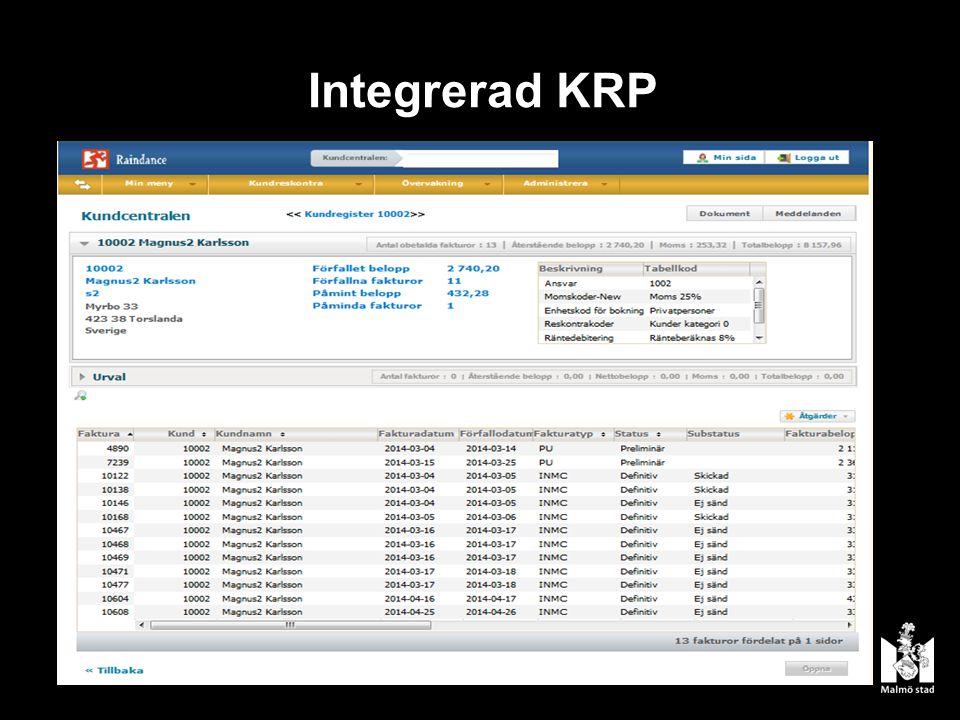 Integrerad KRP