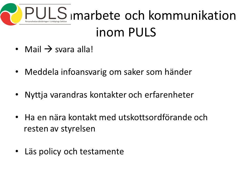 Samarbete och kommunikation inom PULS Mail  svara alla.