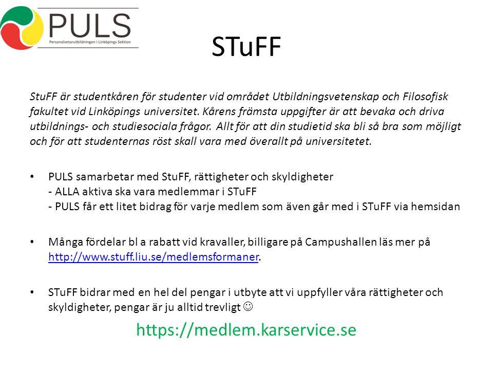 STuFF StuFF är studentkåren för studenter vid området Utbildningsvetenskap och Filosofisk fakultet vid Linköpings universitet.