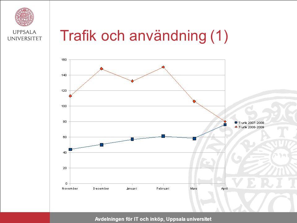 Trafik och användning (1) Avdelningen för IT och inköp, Uppsala universitet