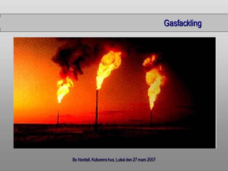 Bo Nordell, Kulturens hus, Luleå den 27 mars 2007 Gasfackling