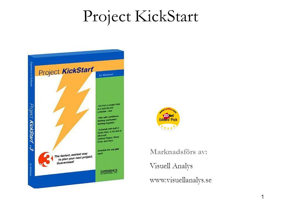 1 Project KickStart Marknadsförs av: Visuell Analys www.visuellanalys.se