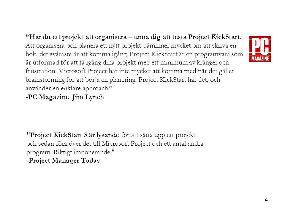 4 Har du ett projekt att organisera – unna dig att testa Project KickStart.