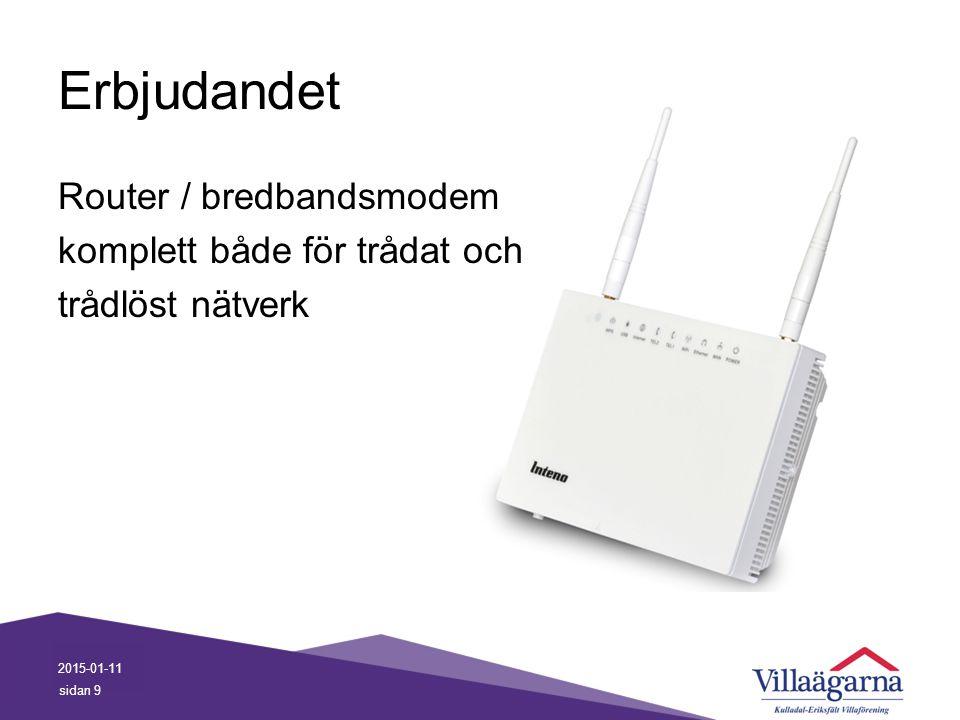 Erbjudandet Router / bredbandsmodem komplett både för trådat och trådlöst nätverk 2015-01-11 sidan 9