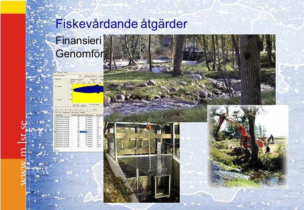 Fiskevårdande åtgärder Finansiering Genomförande