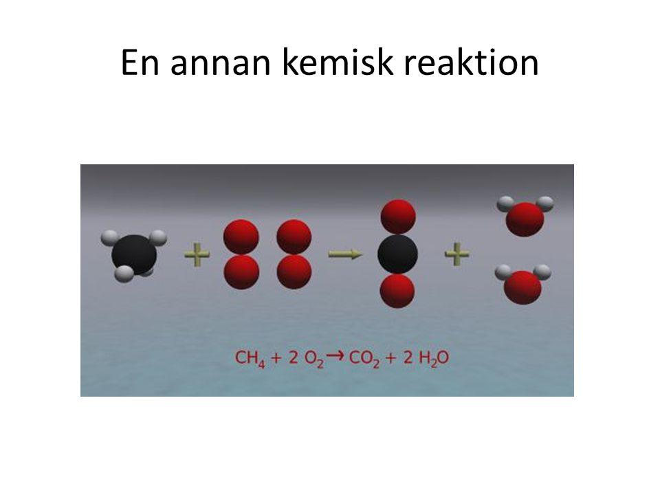 En annan kemisk reaktion