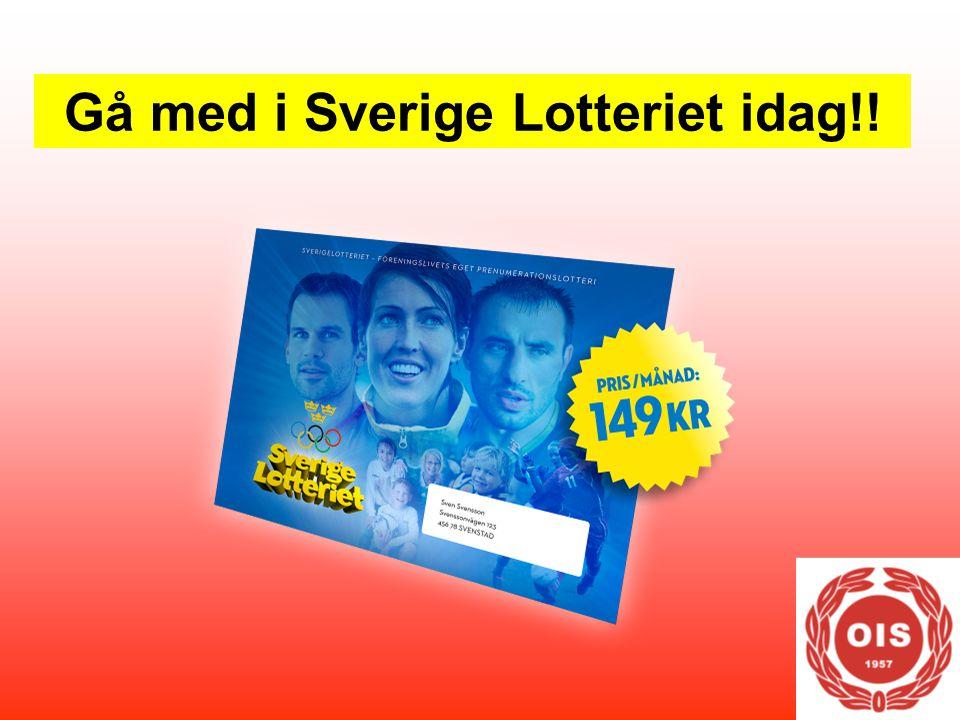 Gå med i Sverige Lotteriet idag!!