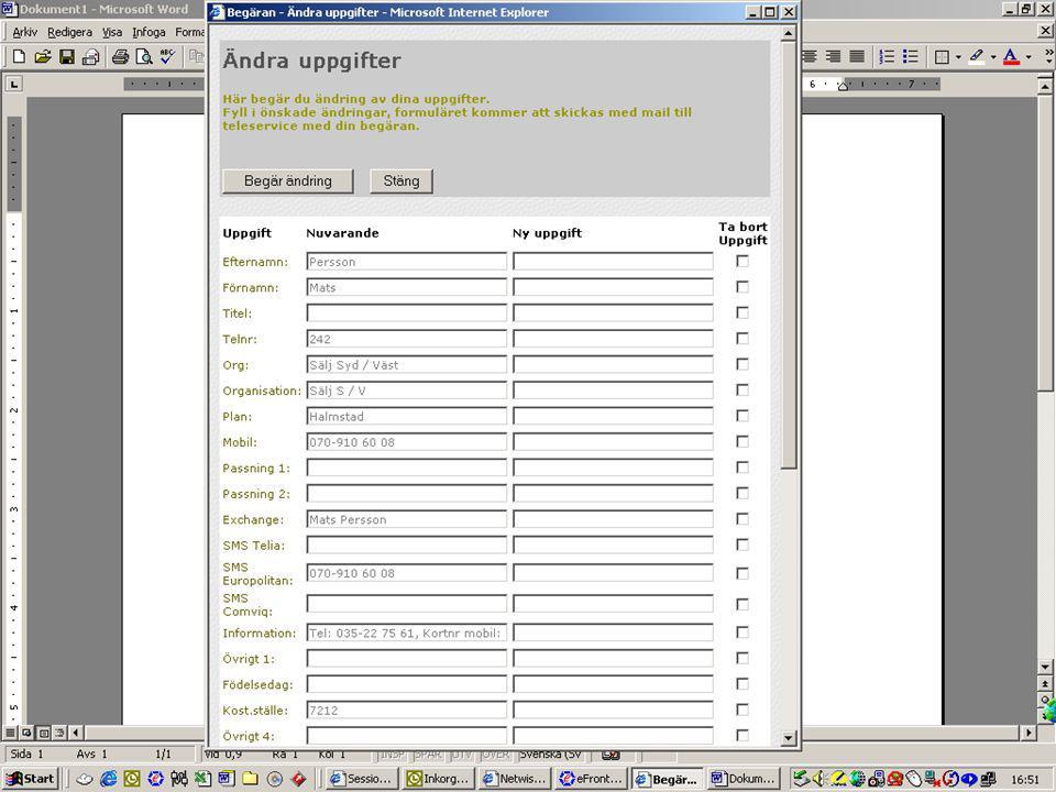 CMG 6.0 för medarbetarna Besöksbokning Netwise Visit