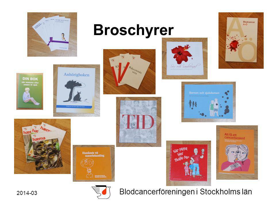 2014-03 Blodcancerföreningen i Stockholms län Broschyrer