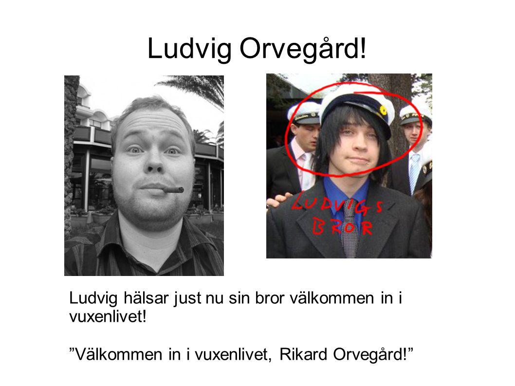 """Ludvig Orvegård! Ludvig hälsar just nu sin bror välkommen in i vuxenlivet! """"Välkommen in i vuxenlivet, Rikard Orvegård!"""""""