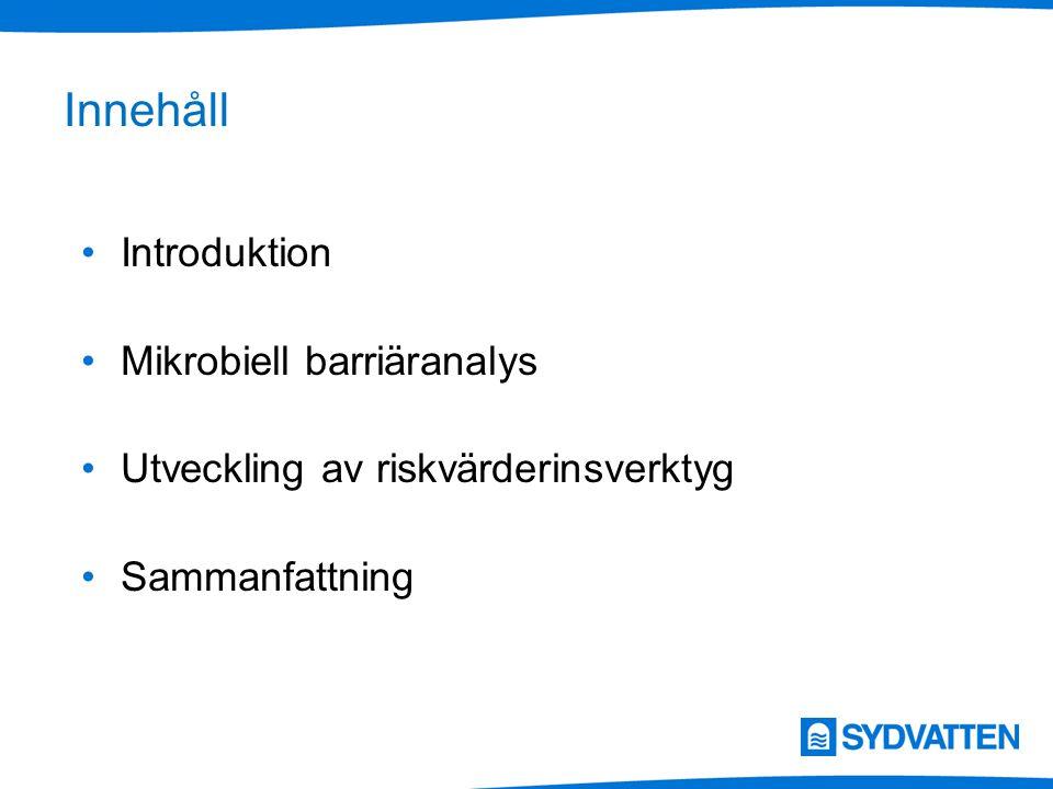 Innehåll Introduktion Mikrobiell barriäranalys Utveckling av riskvärderinsverktyg Sammanfattning