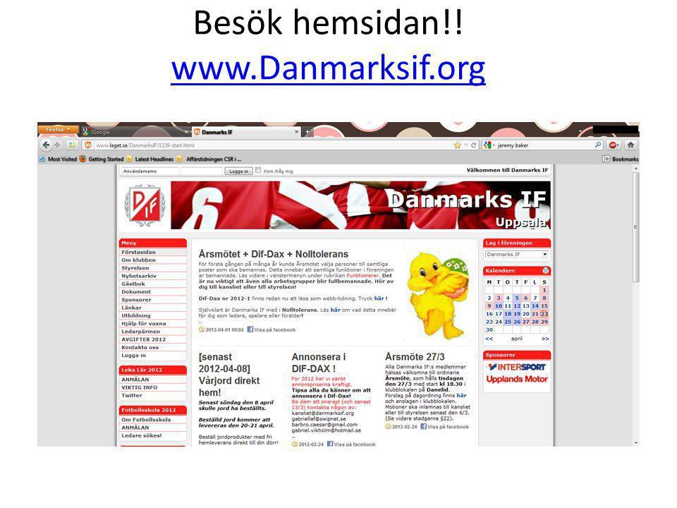 Besök hemsidan!! www.Danmarksif.org www.Danmarksif.org
