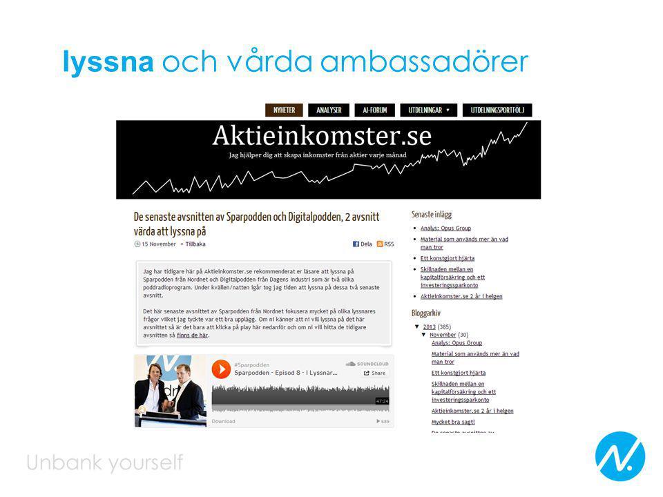 lyssna och vårda ambassadörer
